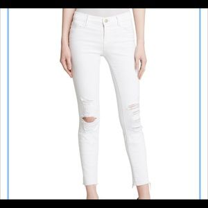 New with tags Jbrand jeans low rise cropped white